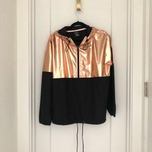 Lightweight hooded track jacket
